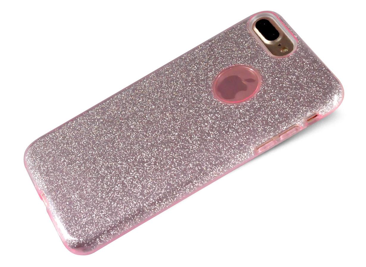 coque iphone 7 rose glitter