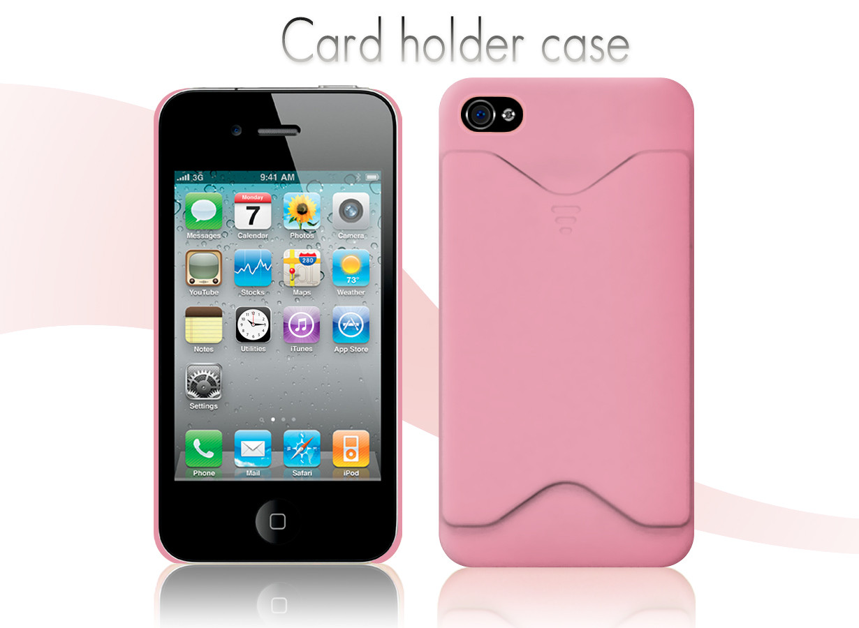 coque iphone 4 4s card holder case. Black Bedroom Furniture Sets. Home Design Ideas