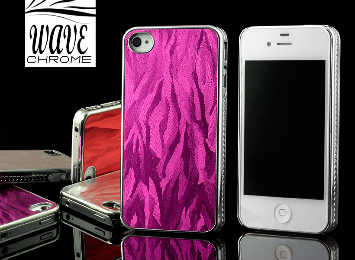 coque iphone 4 4s chrome waves. Black Bedroom Furniture Sets. Home Design Ideas