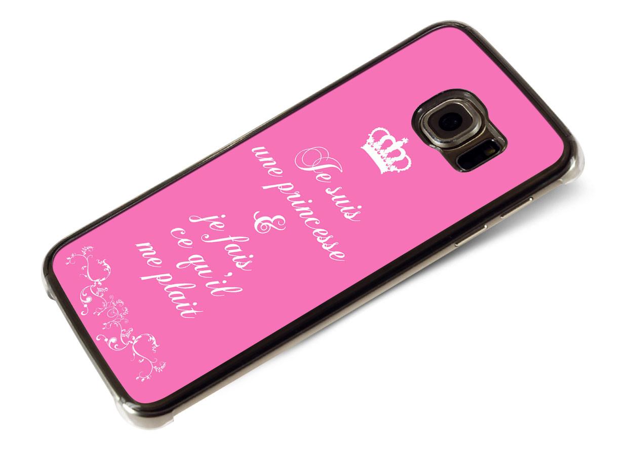 Coque Samsung Galaxy S6 Edge Je suis une princesse