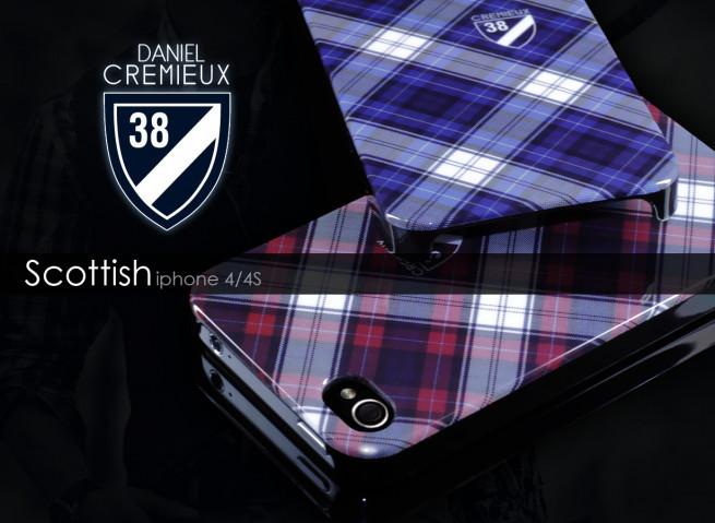 Coque iPhone 4/4S Scottish Case by Daniel Cremieux