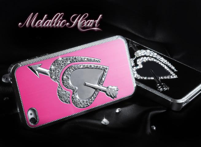 Coque iPhone 4/4S Metallic Heart