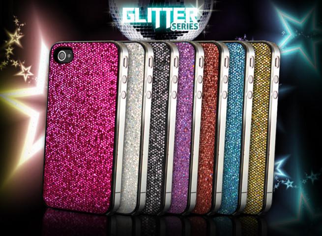"Coque iPhone 4 ""Glitter Series"""