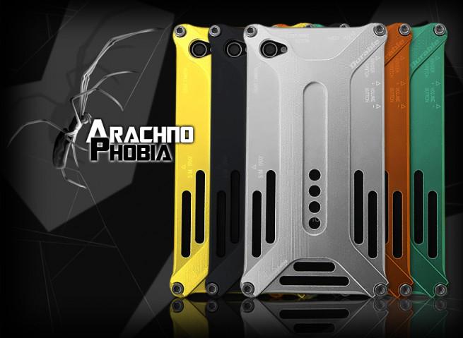 Coque intégrale alu iPhone 4/4S Arachnophobia