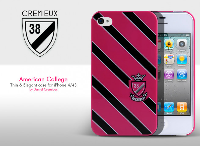 Coque iPhone 4/4S American College Case by Daniel Cremieux