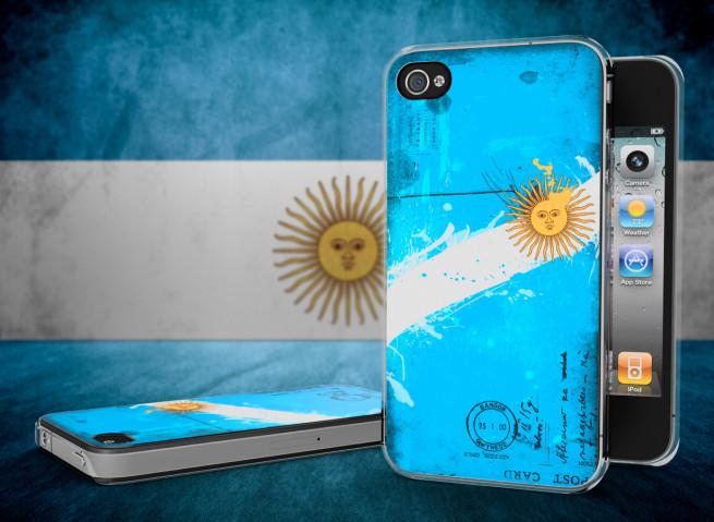 Coque iPhone 4/4S Drapeau Argentine Grunge Translucide