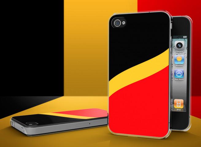 Coque iPhone 4/4S Drapeau Belgique Translucide