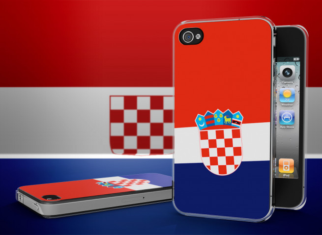 Coque iPhone 4/4S Drapeau Croatie Translucide