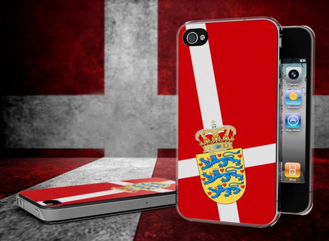Coque iPhone 4/4S Drapeau Danemark Translucide
