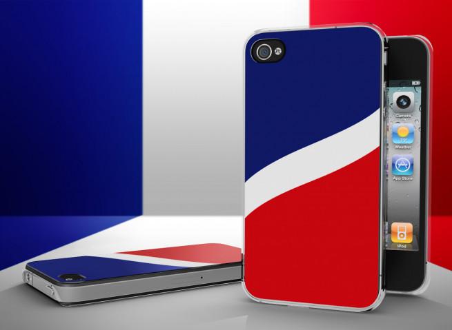 Coque iPhone 4/4S Drapeau France Translucide