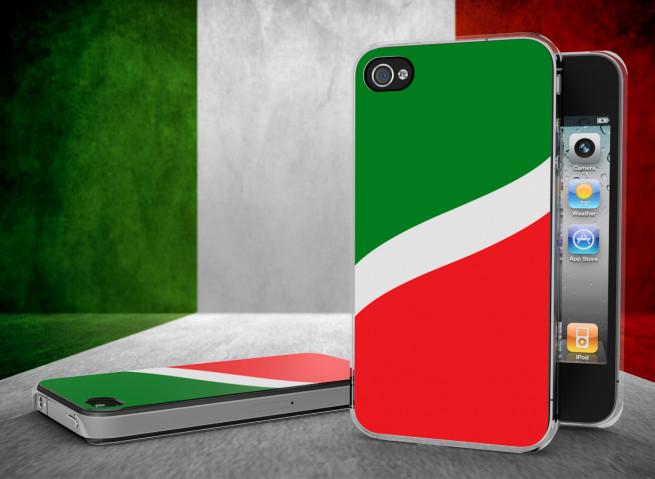 Coque iPhone 4/4S Drapeau Italie Translucide