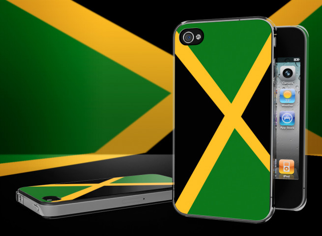 Coque iPhone 4/4S Drapeau Jamaique Translucide