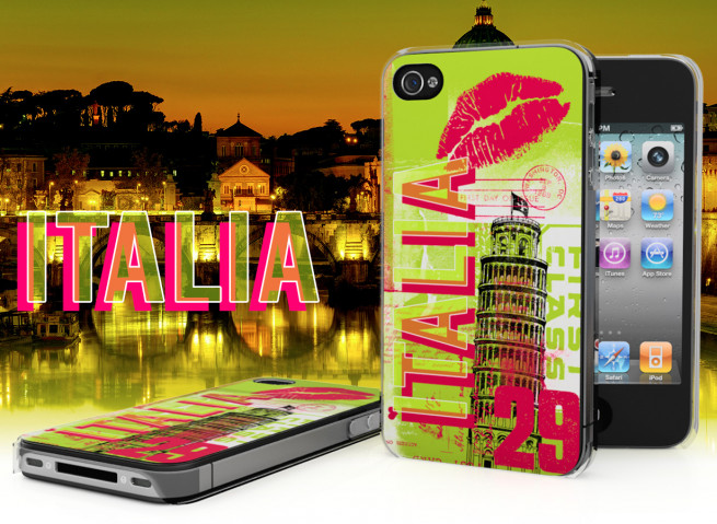 Coque iPhone 4/4S Lips Flag - Italie