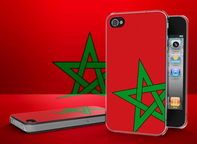 Coque iPhone 4/4S Drapeau Maroc Translucide