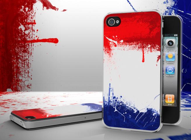 Coque iPhone 4/4S Drapeau Pays-Bas Grunge Translucide