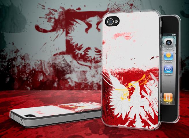 Coque iPhone 4/4S Drapeau Pologne Grunge Translucide