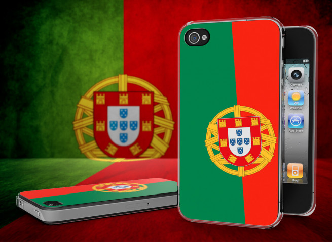 Coque iPhone 4/4S Drapeau Portugal Translucide