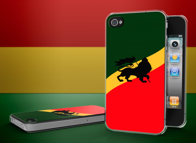 Coque iPhone 4/4S Rastafari Translucide