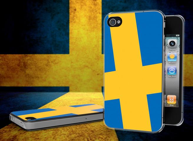 Coque iPhone 4/4S Drapeau Suede Translucide