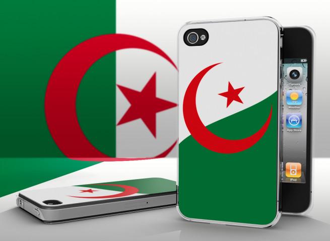 Coque iPhone 4/4S Drapeau Algérie Translucide