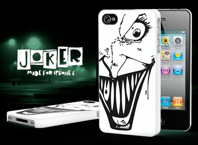 Coque iPhone 4/4S Joker-Noir