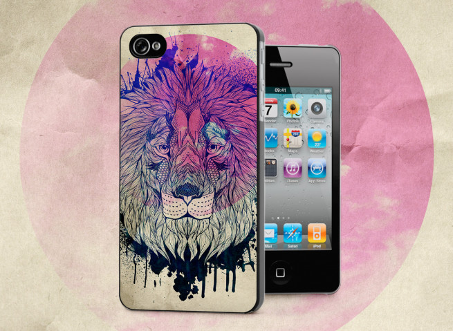 Coque iPhone 4/4S Lion Face