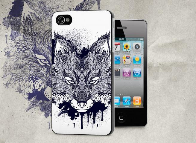 Coque iPhone 4/4S Black Fox Face