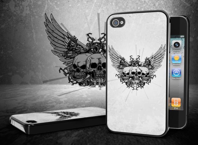 "Coque iPhone 4/4S ""Skull Flower"""