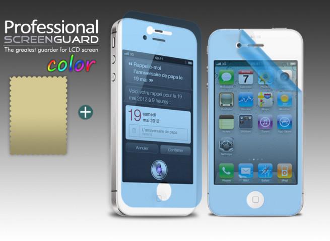Film Protecteur iPhone 4/4S Bleu