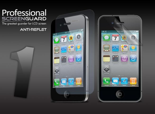 Kit 1 film protecteur AVANT Anti-Reflet + chiffon iPhone 4/4S