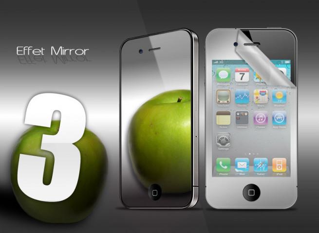 KIT 3 films protecteurs iPhone 4/4S MIROIR