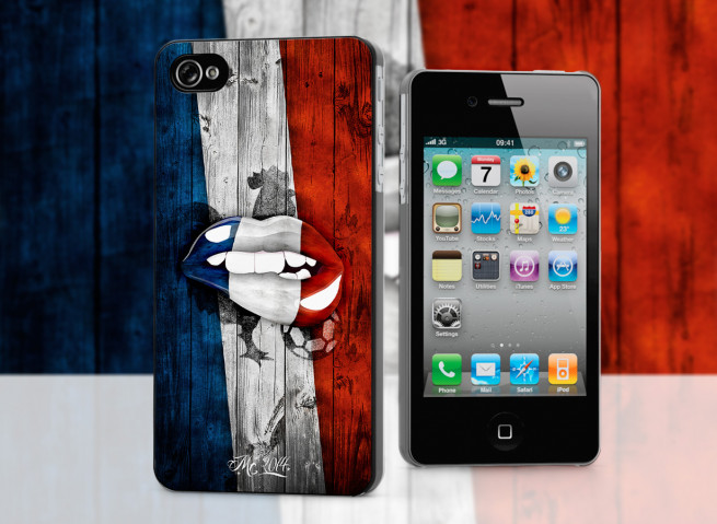 Coque iPhone 4/4S Lips Flag France