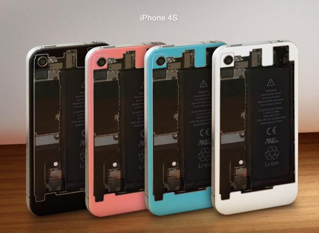 Façade arrière transparente iPhone 4S