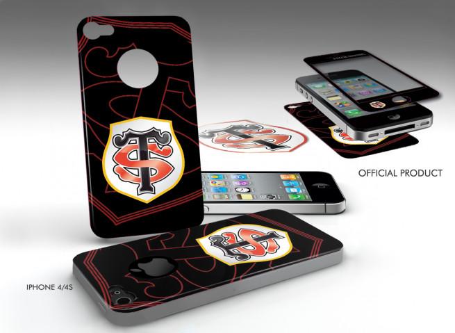 Sticker Adhérent surfaces lisses iPhone 4/4S Stade Toulousain