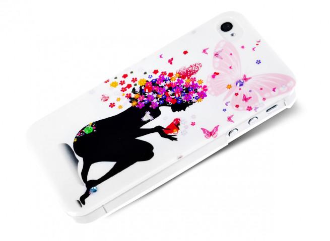Coque iPhone 4/4S Flowers Girl