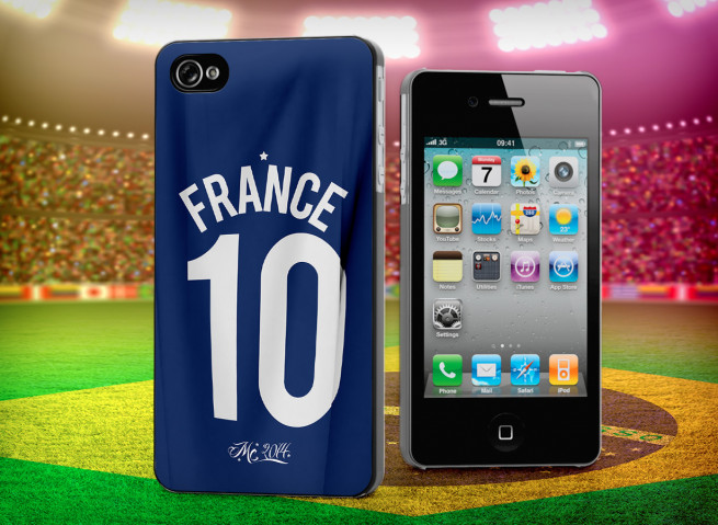Coque iPhone 4/4S Maillot France