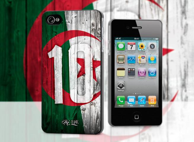 Coque iPhone 4/4S Coupe du Monde 2014-Algérie
