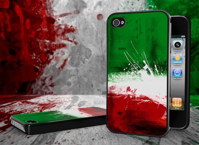 Coque iPhone 4/4S Drapeau Italie Grunge