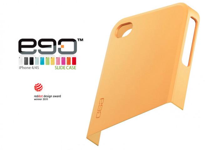 Coque iPhone 4/4S Ego Slide Case - Haut Jaune