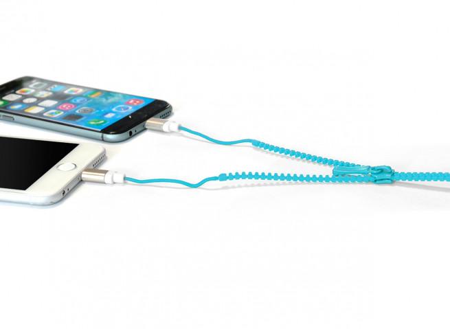 Câble Lightning/Micro USB Zip-Bleu
