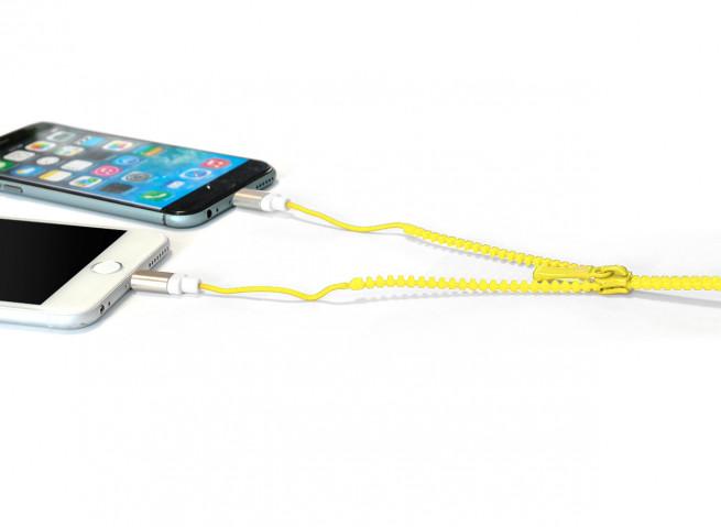 Câble Lightning/Micro USB Zip-Jaune