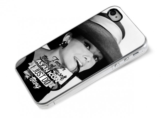 Coque iPhone 4/4S The Icons- Audrey Hepburn