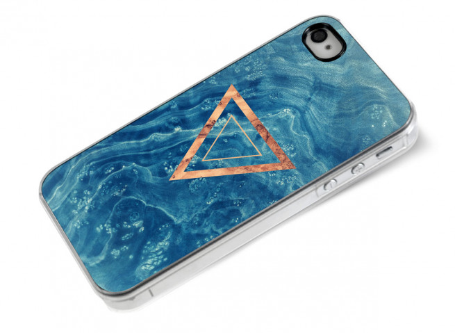Coque iPhone 4/4S Blue Wood