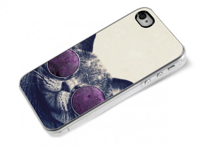 Coque iPhone 4/4S Cat Glasses