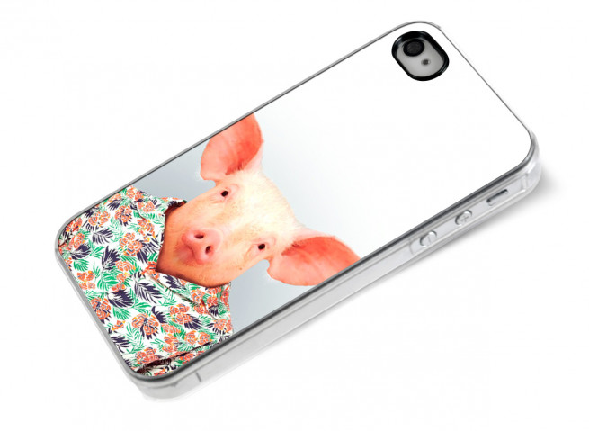 Coque iPhone 4/4S Smart Zoo- Cochon