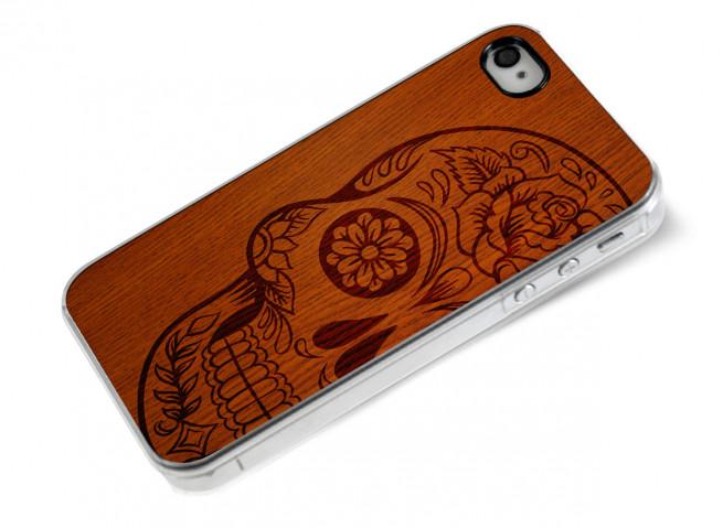 Coque iPhone 4/4S Skull Wood