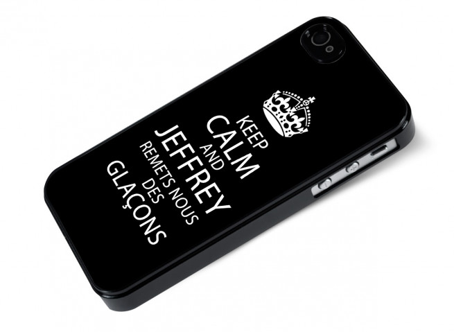 Coque iPhone 4/4S Keep Calm Jeffrey