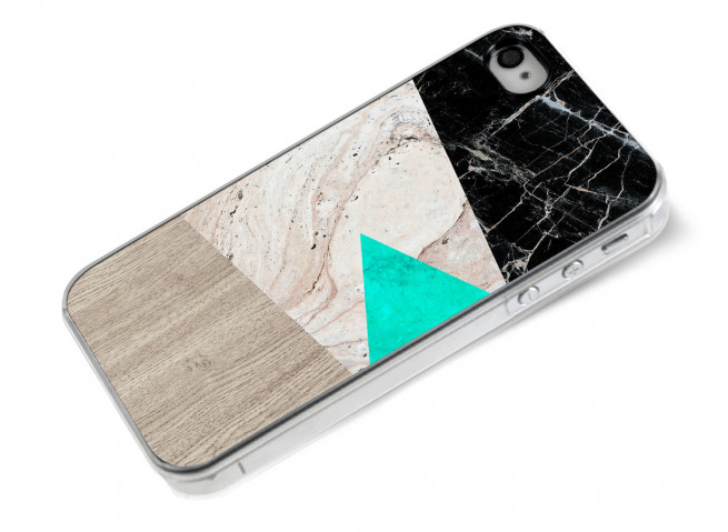 Coque iPhone 4/4S Marble and Wood