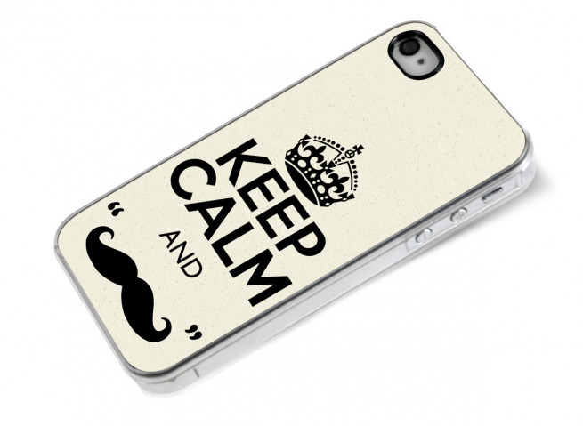 Coque iPhone 4/4S Movember-Keep Calm