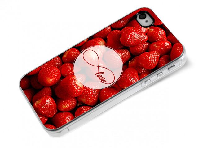Coque iPhone 4/4S Infinity Love- Strawberry